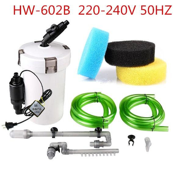 SUNSUN Brand New 6W External Canister Filter Table Top Aquarium Fish Tank 400L/h 220V 110V HW-603B EU US Plug