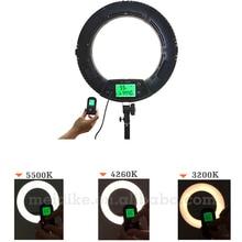 Yidoblo RU verschiffen schwarz FE-480II Led-ringlicht Make-Up kalt warm farbe einstellbar Studio 480 LED Macro Ring Licht 3200 Karat-5600 Karat