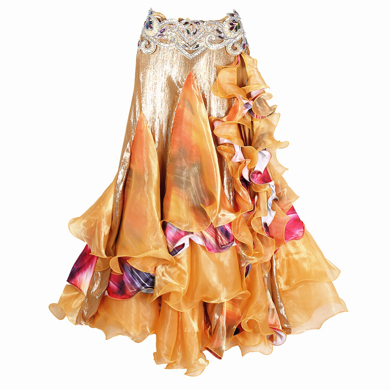 2018 New Belly Dancing Clothing Long Full Circle Skirts Wrapped Slits Skirt Women Belly Dance Skirts (without Belt)