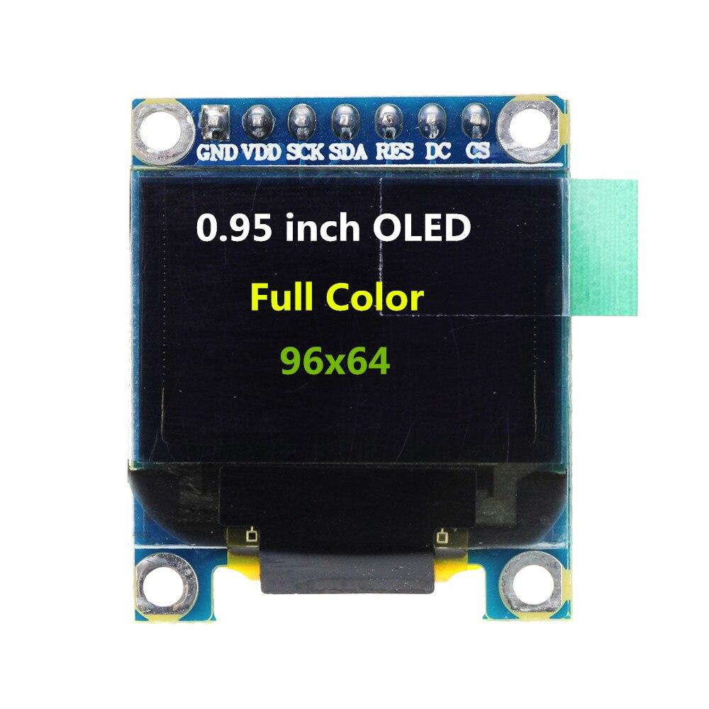 0.95 pollice di Colore Completo Modulo Display OLED con Risoluzione di 96x64 di Interfaccia Parallela SPI SSD1331 Controller 7PIN0.95 pollice di Colore Completo Modulo Display OLED con Risoluzione di 96x64 di Interfaccia Parallela SPI SSD1331 Controller 7PIN