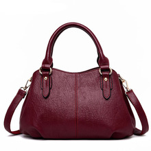 Classic Top-Handle Bags for Women Soft Leather Luxury Handbags Patchwork Women Bags Designer Ladies Shoulder Bag Casual Big Tote