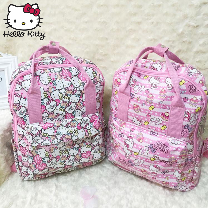 75e3e2e7f Hello Kitty Cute Cartoon Bag Fashion Women Single Shoulder Waterproof  Diagonal Bag Lovely Girl Schoolbag Shoulder