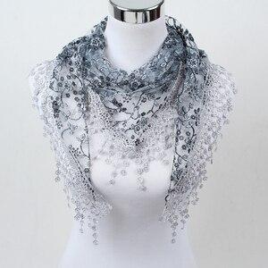 2018 новый стиль от производителя женский модный шарф, дамские шарфы с цветочным принтом, шелковые медные наличные кружевные шарфы, универсал...
