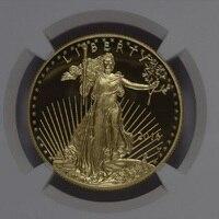 2016 Вольфрамовая монета с покрытием 1,5 г. 999 тонкое Золото Американский орел градуированных PF70 1 troy Oz. in origanl случае