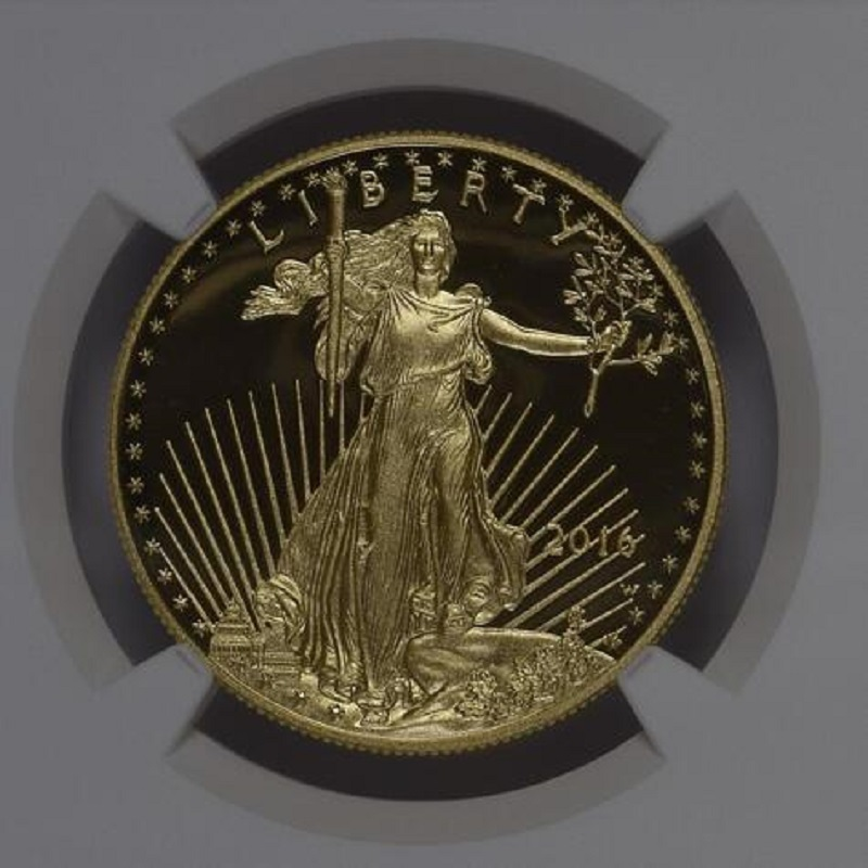 2016 tungsten coin plated 1 5 grams 999 fine gold American eagle graded PF70 1 troy