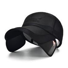 summer outdoor sun protection sunshade sports pull hats along baseball caps 2f536ee29878