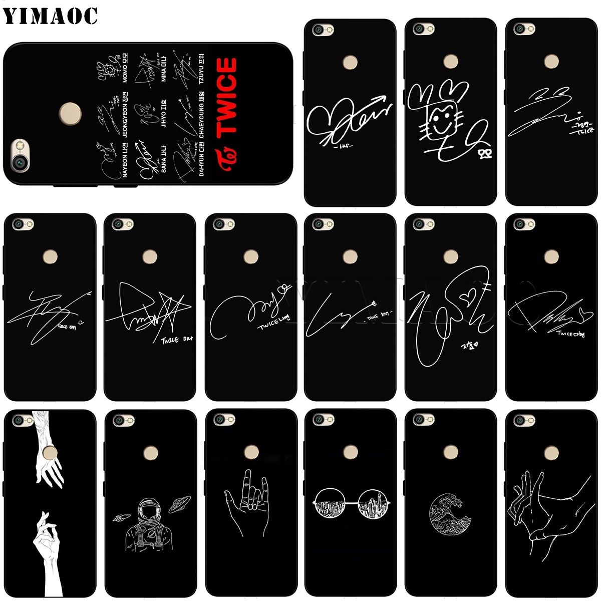 YIMAOC Twice Signature Soft Silicone Case for Xiaomi Redmi Note 4 4x 4a 5 5a 6 Pro Prime Plus