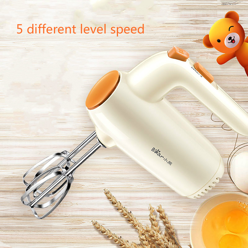 Bear Blenders Mixer Egg Whisk Electric Home Cream Baking Mini Food Dough Mixer Egg Beater bear mixer blenders electric egg whisk both handheld and table type dough mixer and noodle machine egg beater