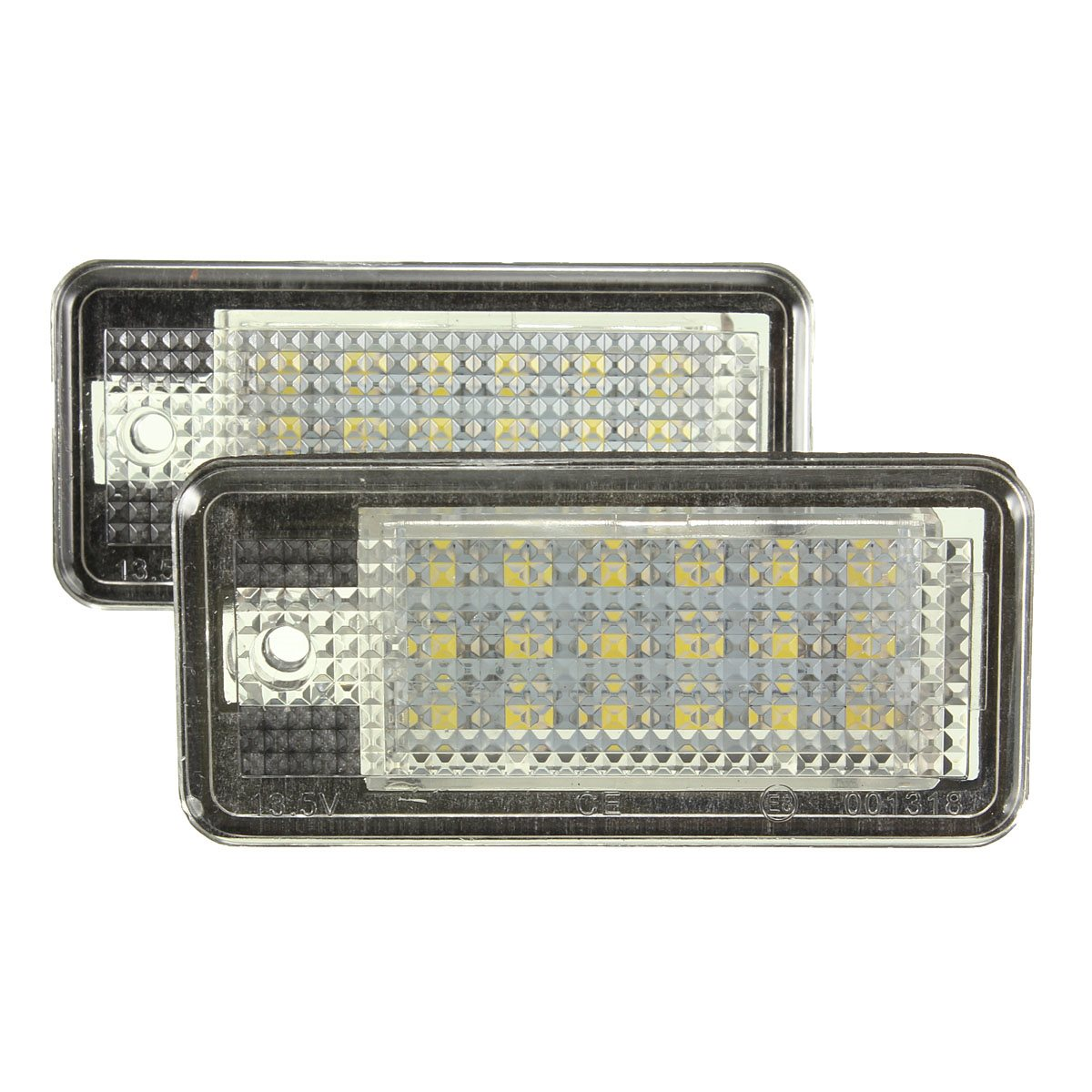 New 2 White Car Error 18 LED License Number Plate Light Lamp For Audi A3 S3 A4 S4 B6 B7 A6 S6 A8 Q7