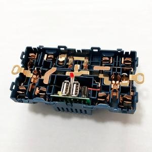 Image 5 - Delviz جدار مقبس الطاقة العالمي 5 حفرة ، 2.1A شاحن USB مزدوج ميناء ، 146 مللي متر * 86 مللي متر ، مؤشر LED ، المملكة المتحدة القياسية USB تبديل المخرج
