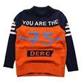 Menino grosso Blusas de Algodão Roupa Infantil Outono Criança Tops Roupa de Crochê Inverno Crianças Roupa Dos Miúdos Roupas Meninos Suéter