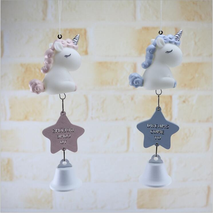 Creative Glue Unicorn Wind Chimes Novelty Home Decoration Pendant Crafts Gifts