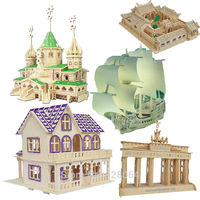 Large building 3d puzzle jigsaw Building Kids Puzzle Toy Learning Alphabet Puzzle Game for Preschool Kids baby toys for children