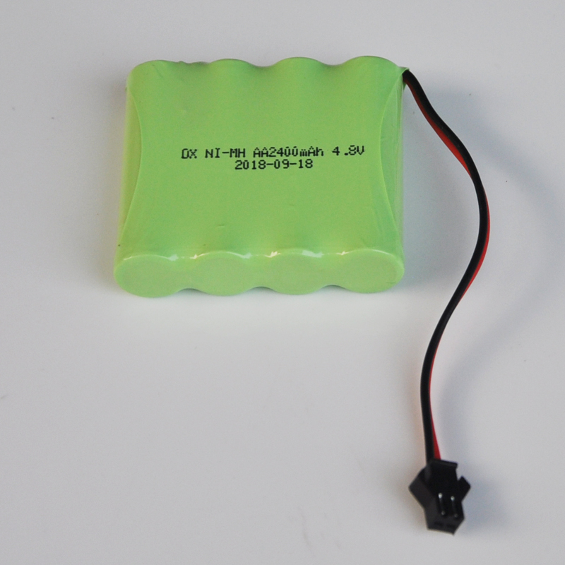 1-2PCS 2400mah Ni-Mh 4.8V AA Rechargeable Battery Pack  AA Cell For RC Car Helicopter Toys Led Light Cordless Phone SM Plug