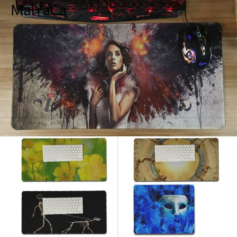 Yinuoda Personalized Cool Fashion Mask flowers DIY Design Pattern Game mousepad Size for 180*220 200*250 250*290 and 300*600*2mm