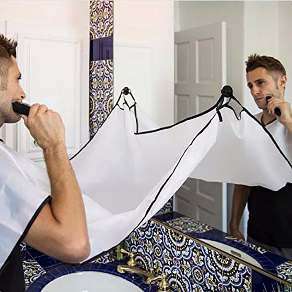 Hairdressing Capes Men's Shaving Cloth New Apron Facial Hair Trimmings Catcher Cape Sink Home Salon Tool Male Shaving Cloth #40