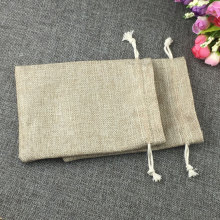 7x9cm fashion natural gifts jute bag Cotton thread Drawstring bags jewelry Packaging Display for Wedding/Party/Birthday pouch