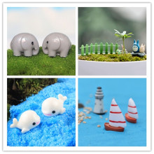 1pc cute animals Chair Resin Craft Micro Landscape Ornament Fairy Garden Miniature Terrarium Figurine Bonsai Decoration(China)