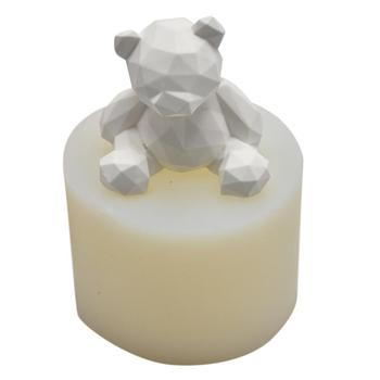 Geometric Bear Shaped Soap Mold Silicone Mold Craft Sculpture Cake Decoration Molds Candle Mold Plaster Ornaments Gypsum Cement Скульптура
