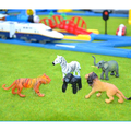 D1055 Бесплатная доставка трек сцены иностранных большой магазин знак Томас костюм зебры, тигры, слоны и другие животные 6 шт./лот