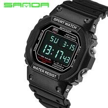 2016 Sanda marque Montres Hommes Militaire LED Numérique Montre Homme Plongée 30 M Mode Sport En Plein Air Montres horloge relogio masculino