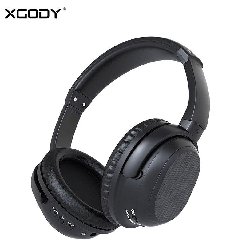 Xgody BH519 Bluetooth 4.0 активного шумоподавления беспроводные наушники 10 м 12 час Время воспроизведения гарнитура встроенный микрофон для телефона