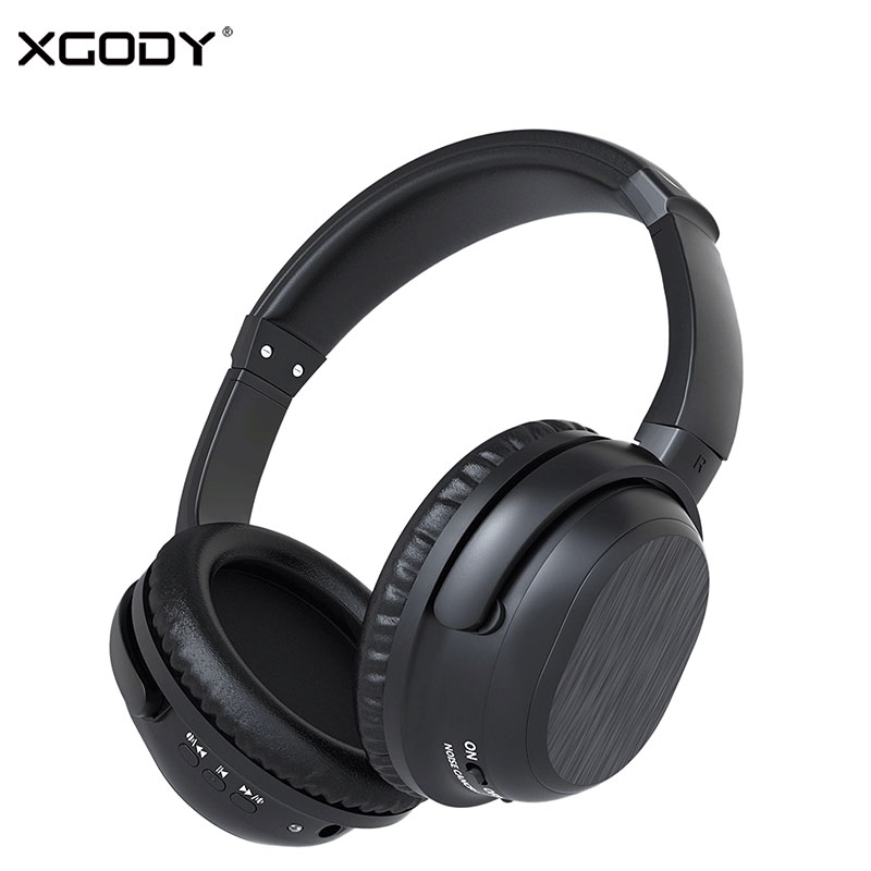 XGODY BH519 Bluetooth 4.0 Active Noise Cancelling Wireless Headphones 10 Meters 12 Hour Play Time Headset Built-in Mic for Phone shoot 4 0 wireless bluetooth headphones for iphone xiaomi noise cancelling built in microphone mobile headset for android phone
