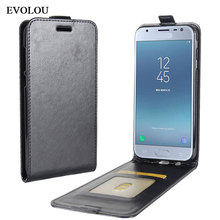 Vertical Filp Leather Case for Samsung J3 2017 Cover J330 SM-J330F Coque UP Down Leather Cover for Samsung Galaxy J3 2017 EU все цены