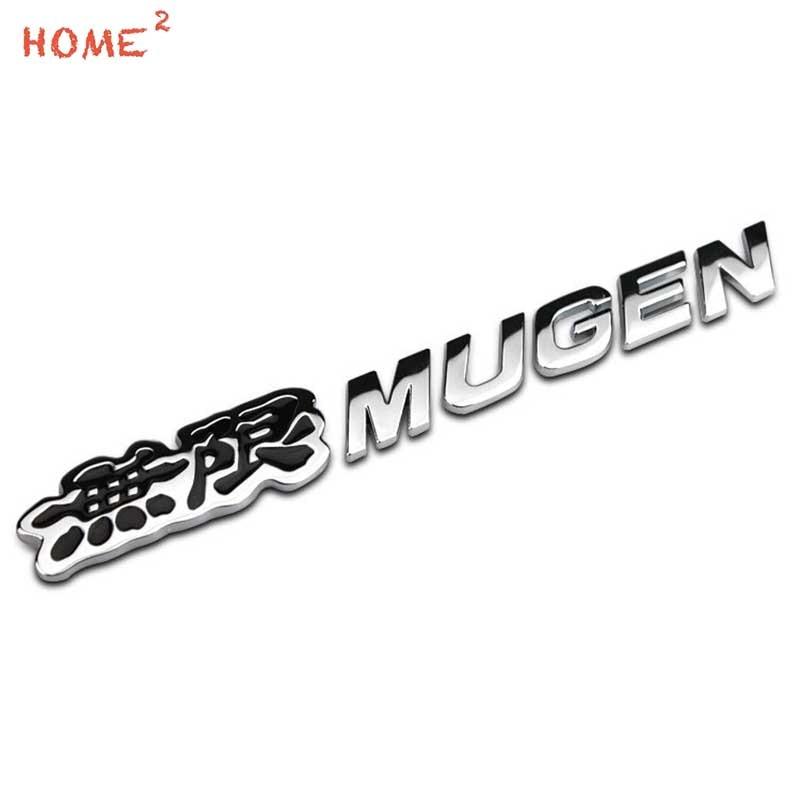 3D Metal Car Sticker for Mugen Power Logo Honda Accord Civic pilot Crosstour H-RV Insight Jazz fit Auto Rear Letter Emblem Badge 3d vtec full metal zinc alloy car styling refit emblem fender tail body badge sticker for honda civic accord odyssey spirior crv