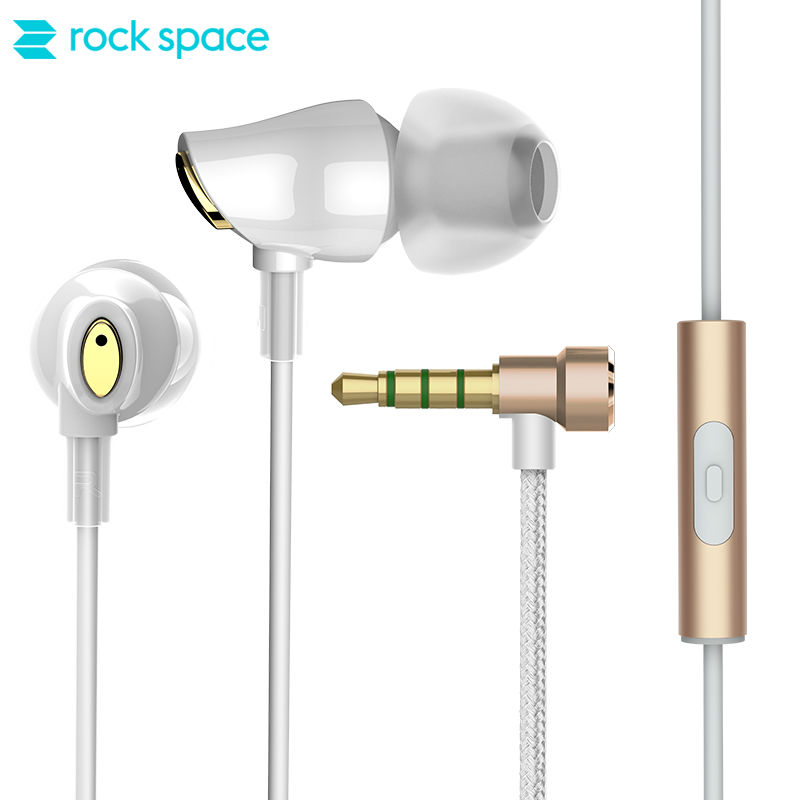 ROCK SPACE Zircon Stereo Earphone Deep Bass stereo Excellent Sound Performance in Ear Noise cancelling with