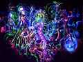 """Psychedelic Trippy Art Fabric poster 32"""" x 24""""   17"""" x 13"""" Decor--059"""