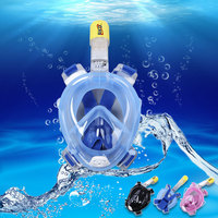 Anti Fog Detachable Dry Snorkeling Full Face Mask Set For GoPro Camera Scuba Diving 3 Colors