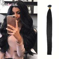 Hiart Hair 0.8g/pc Flat Tip Hair Extensions Salon Style Pre Bonded Hair Real Human Virgin Cuticle Remy Hair Dark Color 182022