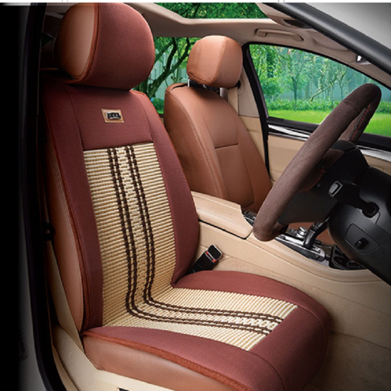 ФОТО Single Car Seat Cover Cushion Ice Silk Car Accessories,Car styling Seat Cushion,Car Mat,Truck Protection Pad For BMW Audi