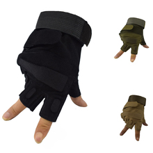 Mens Hunting Airsoft Paintball Military Armed Gloves Tactical Half Finger Sport Hiking Camping