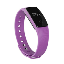 Bluetooth Smart Wrist Watch Phone Bracelet Heart Rate Monitor Fitness Tracker Purple