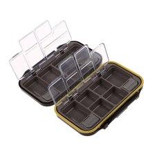 Waterproof 12 Compartments Fishing Tackle Box Eco-Friendly Fishing Lure Bait Fishing Hook Fishing Tool Storage Box Case