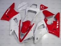 YZF1000 R1 2000 2001 всего тела комплекты для YAMAHA YZFR1 00 тела Наборы YZF1000 R1 2001 красный, Белый Abs обтекатель