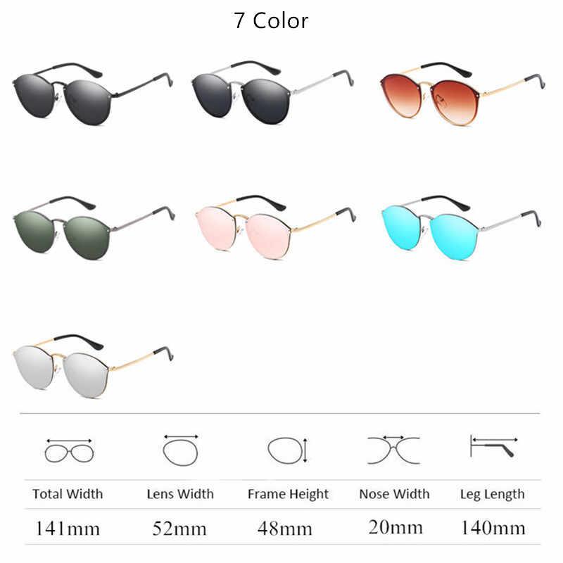 31a775a66e ... 2019 gafas de sol redondas de lujo de marca de diseñador CatEye Retro  sin montura gafas