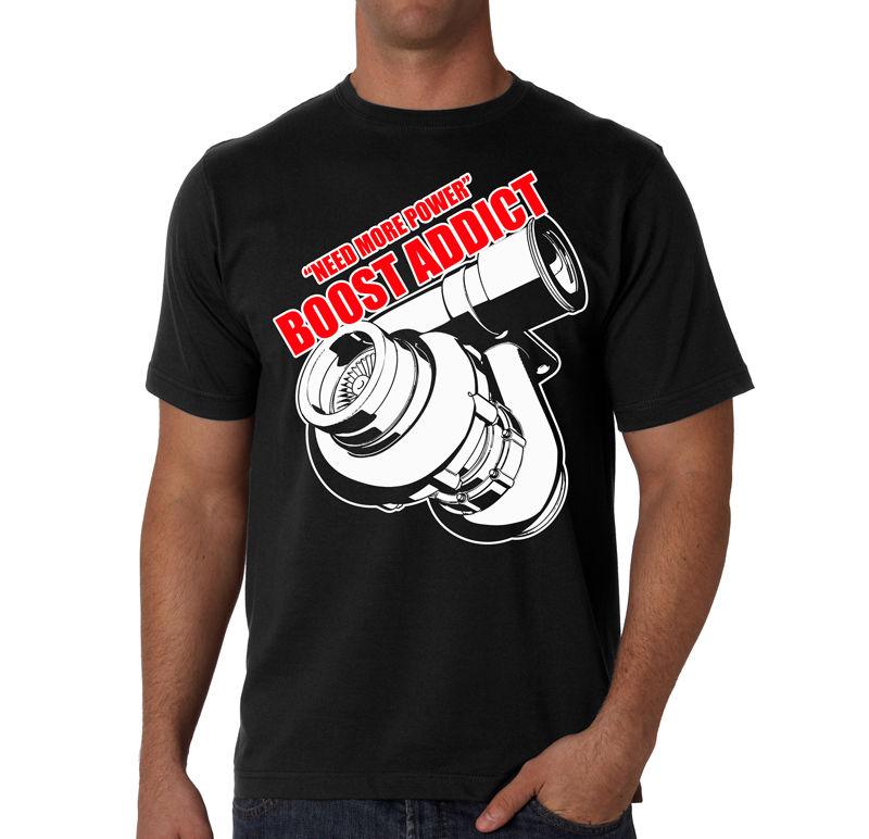 01bcf23a41959 2019 Latest Men T Shirt Fashion Boost Addict Black T-Shirt S-2XL Tuner  Boost Turbo JDM T Shirt