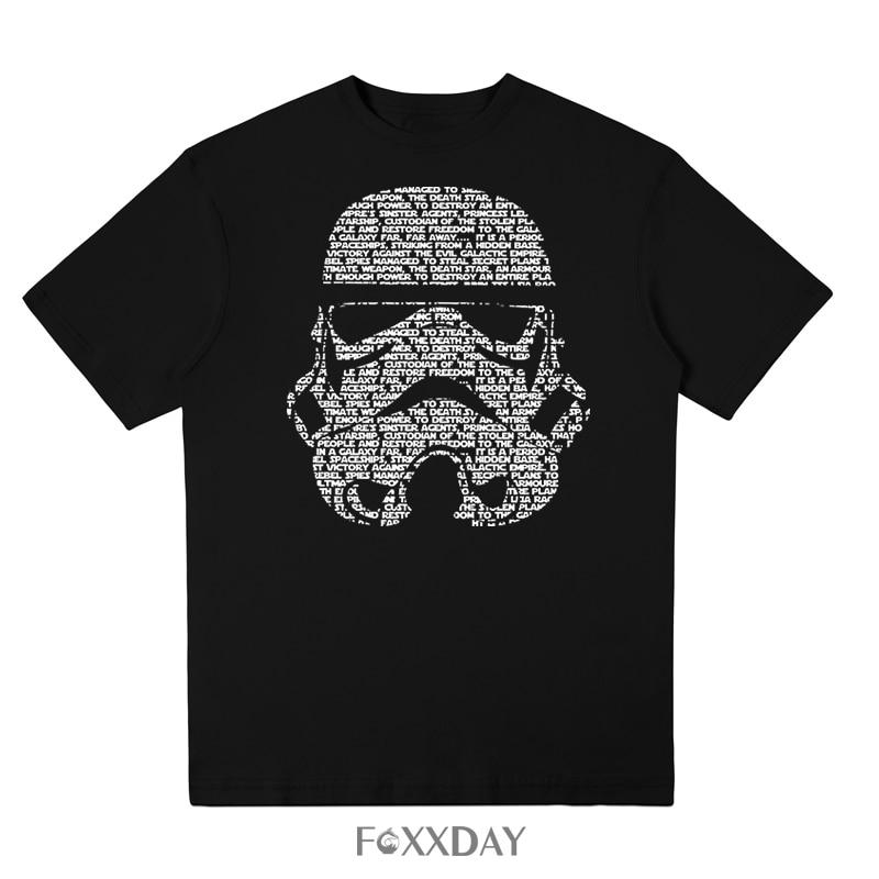 2018 Summer Fashion Star Wars T shirt Yoda/Darth Vader Streetwear T-Shirt Men Casual Tee Shirt Masks Words Hip-Hop Tops Camiseta