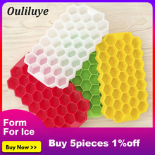 Mini 37 Grids Silicones Ice Cubes Form For Cube Maker Tray Without Cover Kitchen DIY Molds Convenient