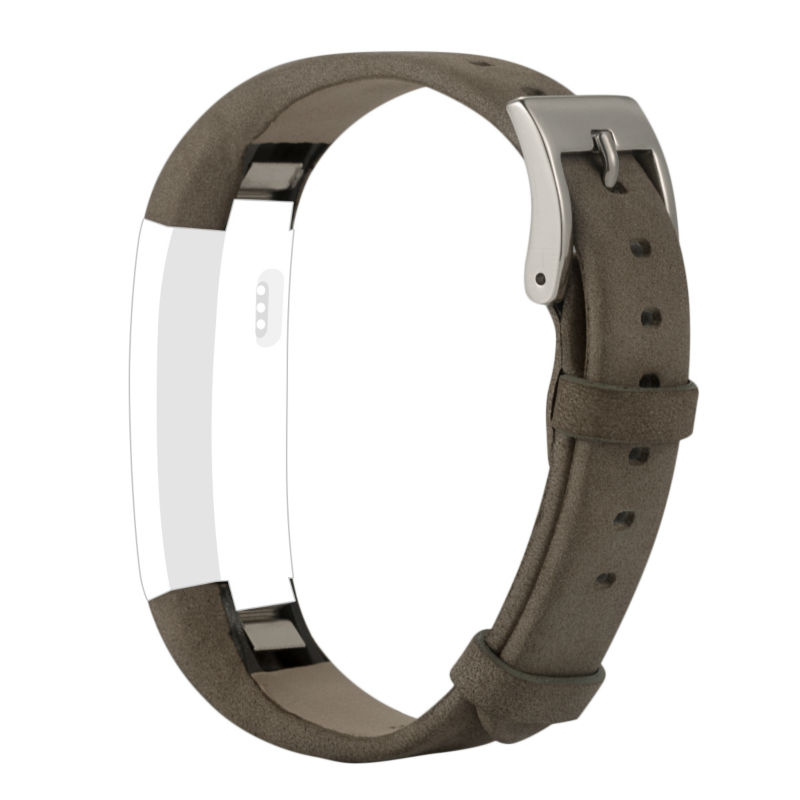 Replacement leather bands for fitbit alta strap,High quality metal buckle Fit for most wrist Suede Gray Color 2pcs/lot
