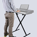 High Quality Electric Organ Stand Portable X-Style Keyboard Electric Organ Iron Rack Metal Stand with Adjustable 7 Height