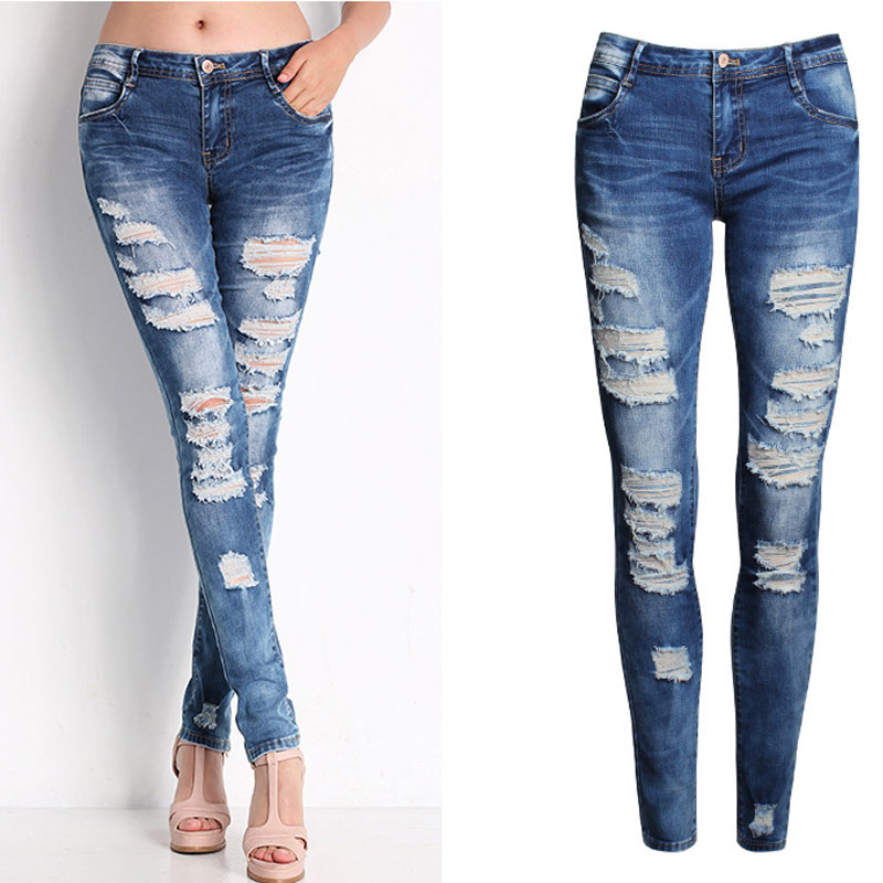 Aliexpress.com : Buy Ripped Cut Out Sexy Jean Pants Nice New Woman ...