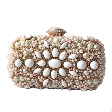 2017 New brand fashion vintage elegant Woman wallet European luxury handmade diamond heavy evening bag bride party prom Clutch