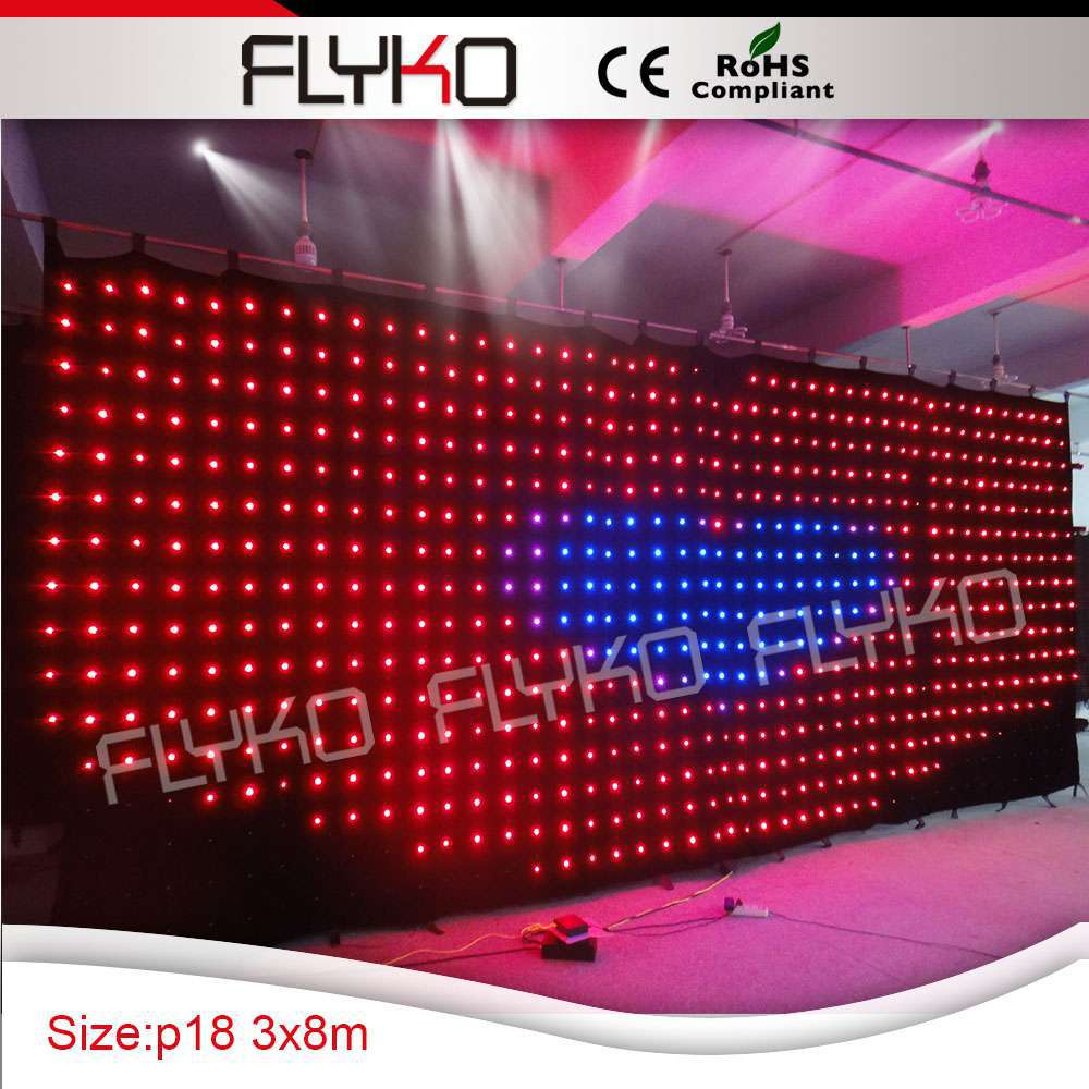 Factory popular products changeable lighting color led stage backdrop