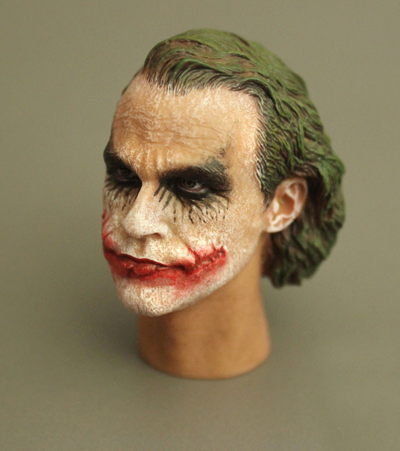 цена Mnotht Toy T-09 Heath Ledger 1/6 Head Sculpt Joker Version 1:6 Scale Male Solider Head Model For 12in Figure Toys l30