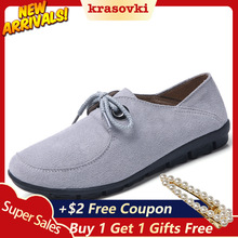 Krasovki Bean Shoes Women Spring Autumn Leather Casual Dropshipping Slip on Lace Up Fashion Breathable Single