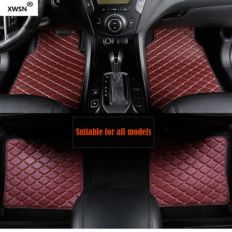 XWSN Universal car floor mat for subaru Tribeca Legacy Outback Impreza Forester XV Car styling Auto parts trunk mat for auto subaru xv forester impreza justy legacy leone outback waterproof car accessories cargo liners